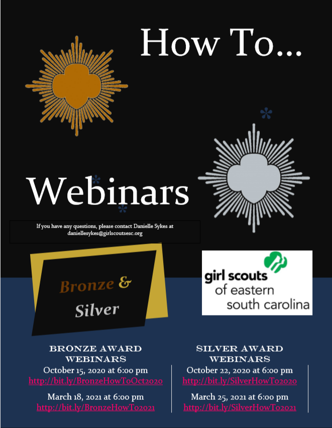 Bronze and Silver Award Webinars Flyer